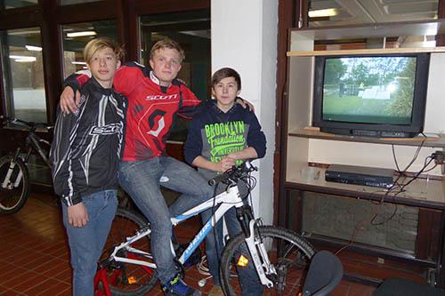 Die Männer von der Mountainbike-AG