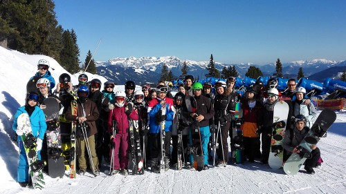 Gruppenfoto Wintersportexkursion 2016 GSS