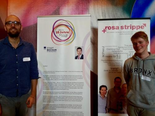 Von links nach rechts: SV-Lehrer Christoph Krull und Schüler*innensprecher Sascha Schulze.