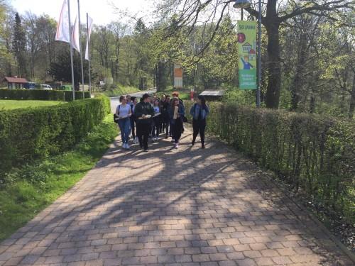 Auf dem Weg zur Burg Sternberg – gleich geht es los!
