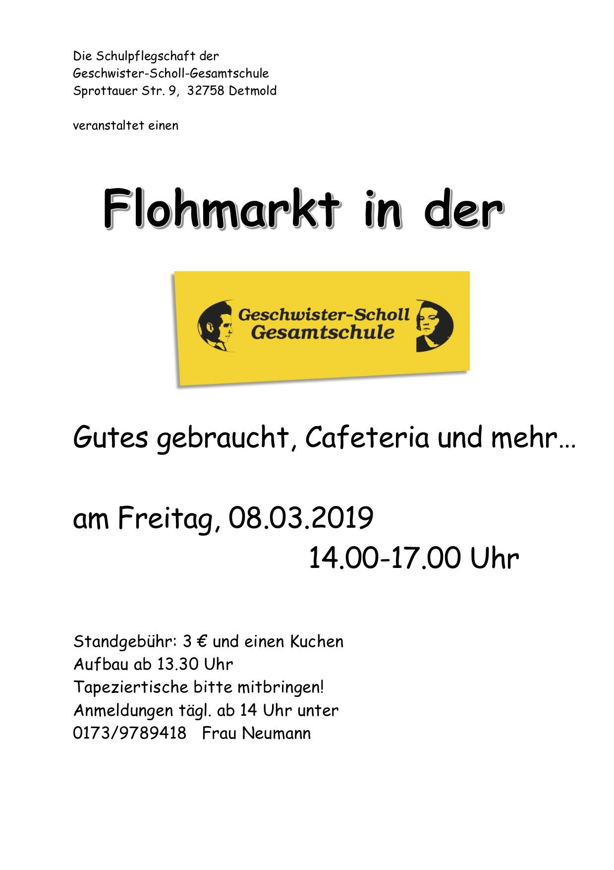 Flyer Flohmarkt 1